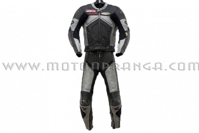 FLM Supermoto 2 piece leather suit