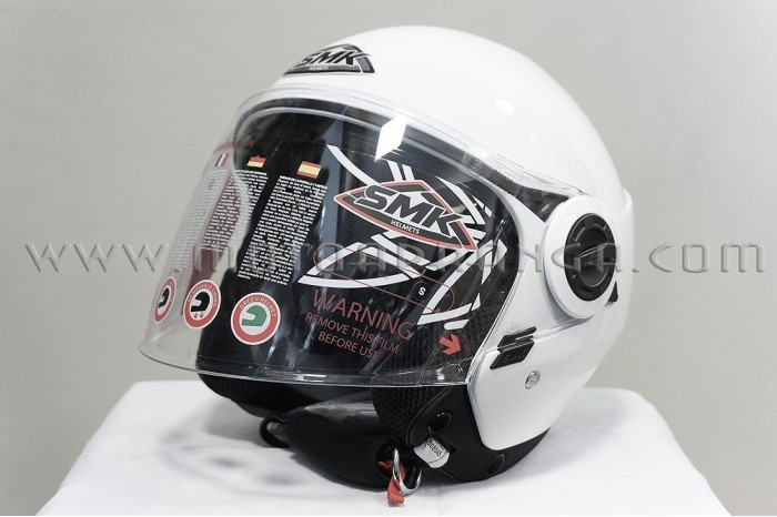 Helmet Jet helmet SMK COOPER WHITE GL100 colour white,